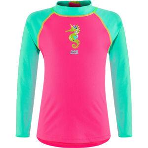Zoggs Sea Unicorn Sun LS Zip Top Kids Pink