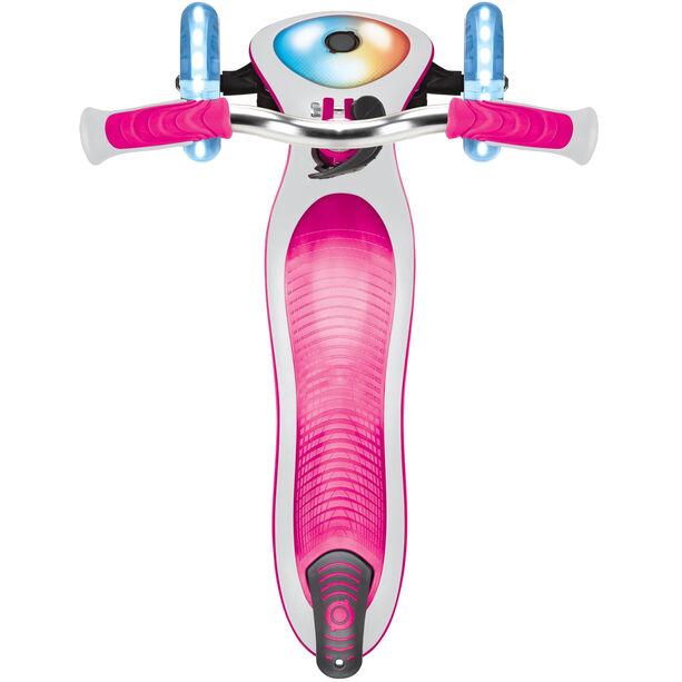 Globber Elite Prime Roller mit Batterielosen LED Blink-Rollen Kinder pink