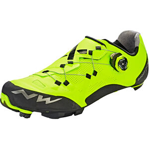 Northwave Ghost XCM Shoes yellow fluo/black