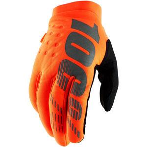100% Brisker Cold Weather Gloves orange/black orange/black