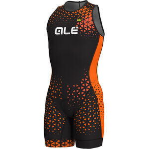Alé Cycling Rush Olympic Tri Sleeveless Unitard Short Herren black-flou orange black-flou orange