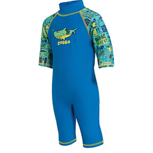 Zoggs Deep Sea Sun Protection One Piece Kids Blu China/Green