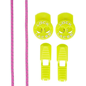 Lock Laces Run Laces Reflective pink pink