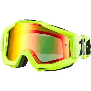 100% Accuri Anti Fog Mirror Goggles flue/yellow flue/yellow