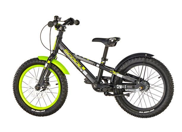 s'cool faXe 16 3-S alloy Kinder black/lemon matt
