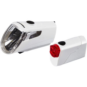 Trelock LS 360 I-GO ECO+LS 720 REEGO Akkubeleuchtung Set weiß weiß