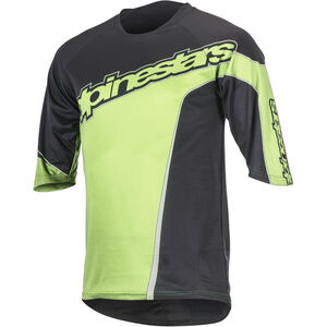 Alpinestars Crest 3/4 Jersey Herren black bright green black bright green