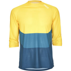 POC Essential Enduro 3/4 Light Jersey Herren sulphite multi yellow sulphite multi yellow