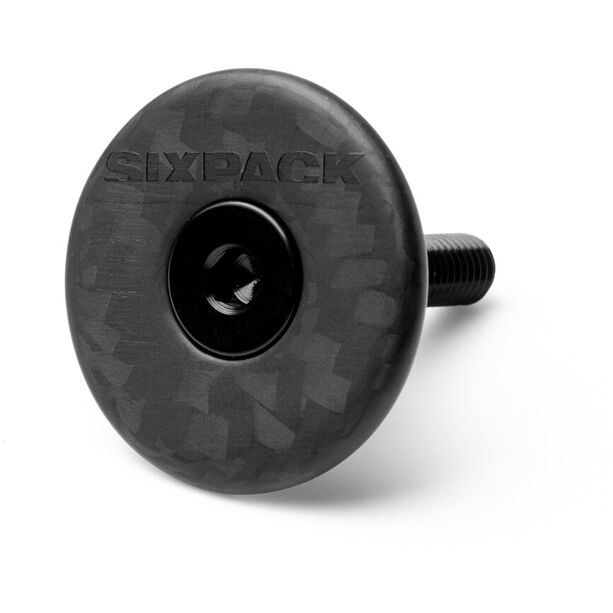 "Sixpack Vertic Aheadkappe 1 1/8"" Carbon stealth black"