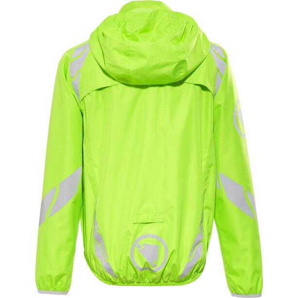 Endura Luminite II Jacket Kinder hi-viz green/reflective
