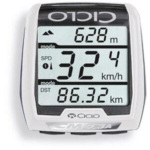 Ciclosport CM 9.3A Fahrradcomputer mit Höhenmessung weiß weiß