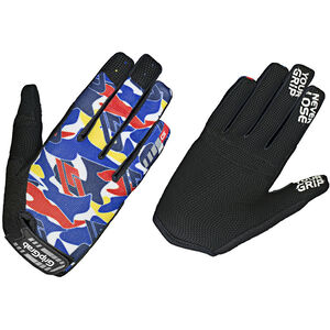 GripGrab Rebel Youngster Rugged Full Finger Gloves Kinder blue camo blue camo