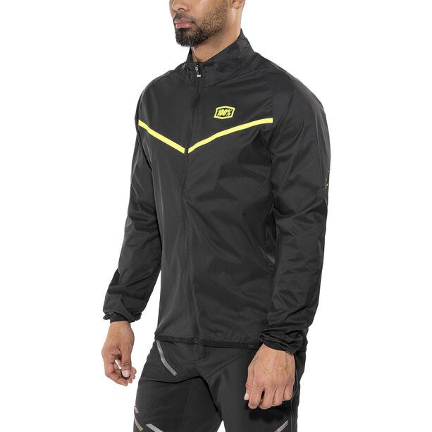 100% Corridor Windbreaker Jacke Herren black/yellow