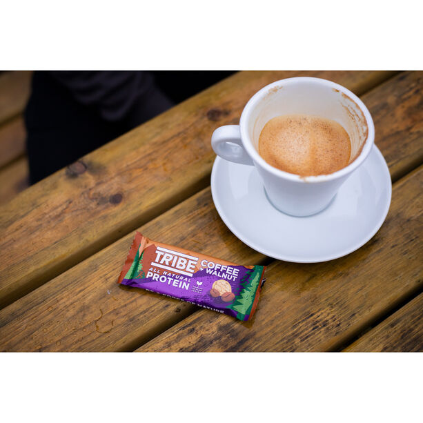 TRIBE Vegan Protein Bar Box 16x50g Kaffee/Walnuss