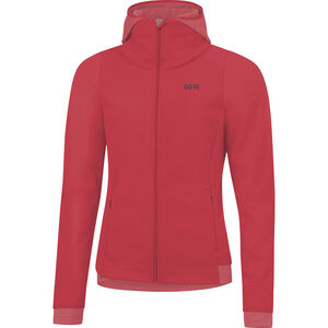 GORE WEAR R3 Windstopper Thermo Hoodie Damen hibiscus pink hibiscus pink