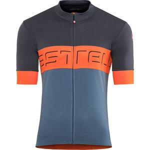 Castelli Prologo VI Jersey Herren dark blue/orange/light blue