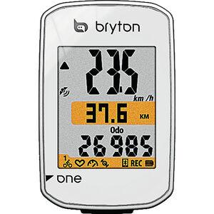 Bryton Rider One C Fahrradcomputer inkl. Trittfrequenzsensor weiß weiß
