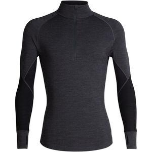 Icebreaker 260 Zone LS Half Zip Shirt Men Jet Heather/Black