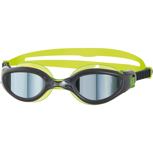 Zoggs Phantom Elite Mirror Schwimmbrille Kinder gun metal/green/mirror