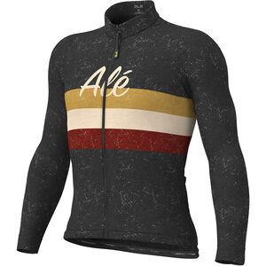 Alé Cycling Classic Vintage Langarm Trikot Herren black black