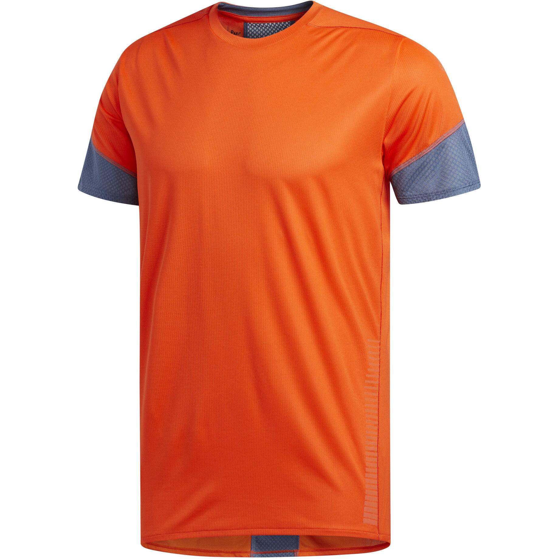 adidas 257 Rise Up N Run Kurzarm T Shirt Herren active orange