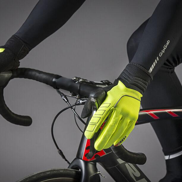 GripGrab Hurricane Hi-Vis Windproof Midseason Gloves fluo yellow