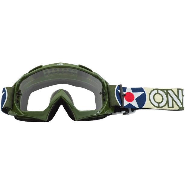 O'Neal B-10 Goggles warhawk green/sand-clear