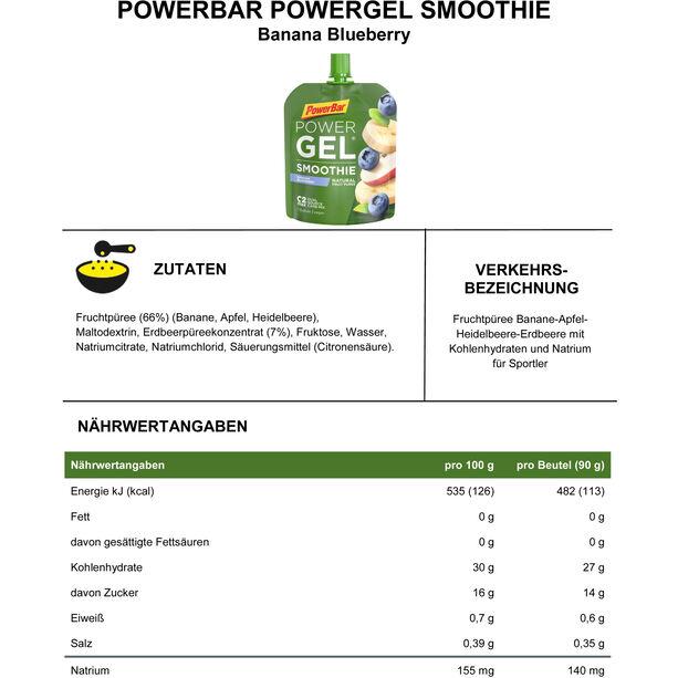 PowerBar PowerGel Smoothie Box 16x90g Banana Blueberry