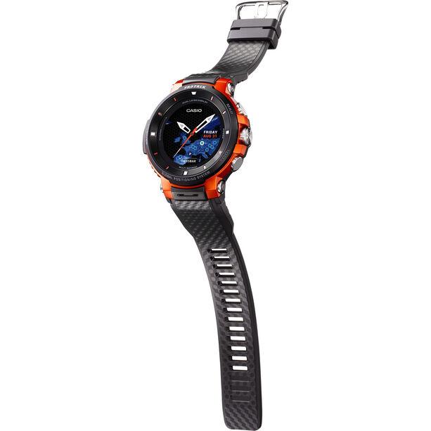CASIO PRO TREK SMART WSD-F30-RGBAE Smartwatch Herren black/orange/grey