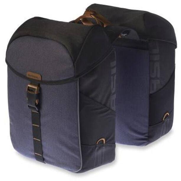 Basil Miles Doppel-Gepäckträgertasche 32l black slate