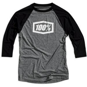 100% Essential 3/4 Tech Tee Herren grey/black grey/black