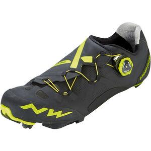 Northwave Ghost XCM Shoes Herren black/yellow fluo black/yellow fluo