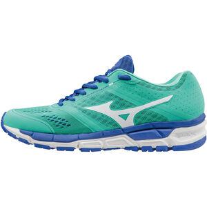 Mizuno Synchro MX Running Shoes Women electric green/white/dazzling blue bei fahrrad.de Online