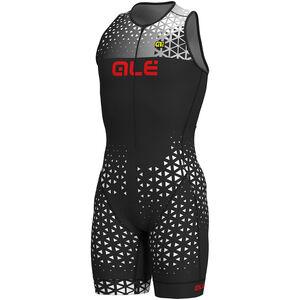 Alé Cycling Rush Tri Sleeveless Unitard Long Herren black-white black-white