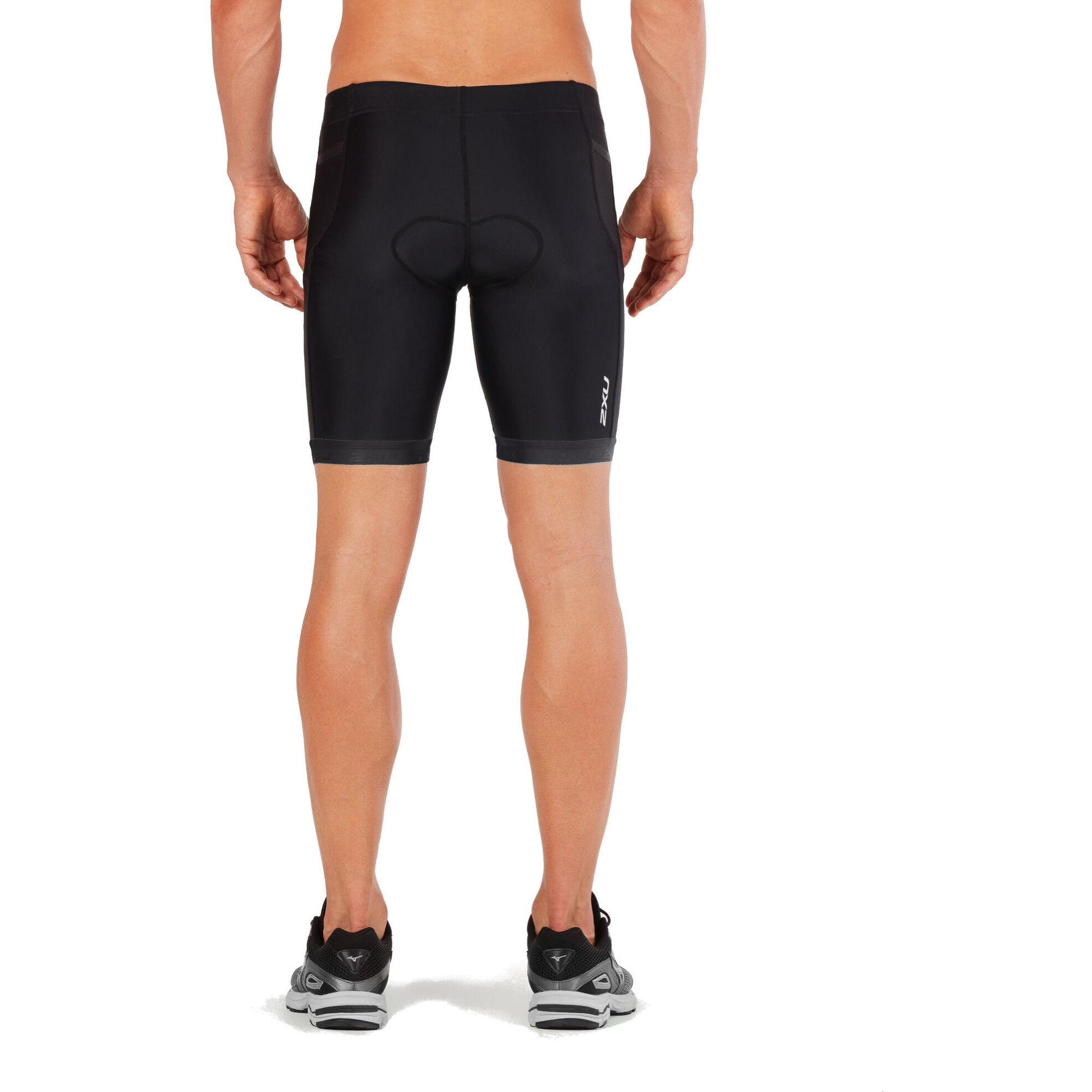 Black 2XU Active Mens Tri Shorts