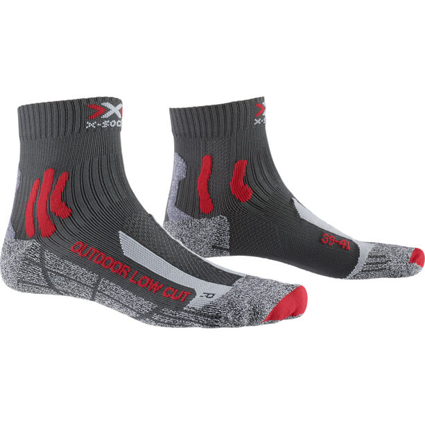 X-Socks Trek Outdoor Low Cut Socken Herren anthracite/red