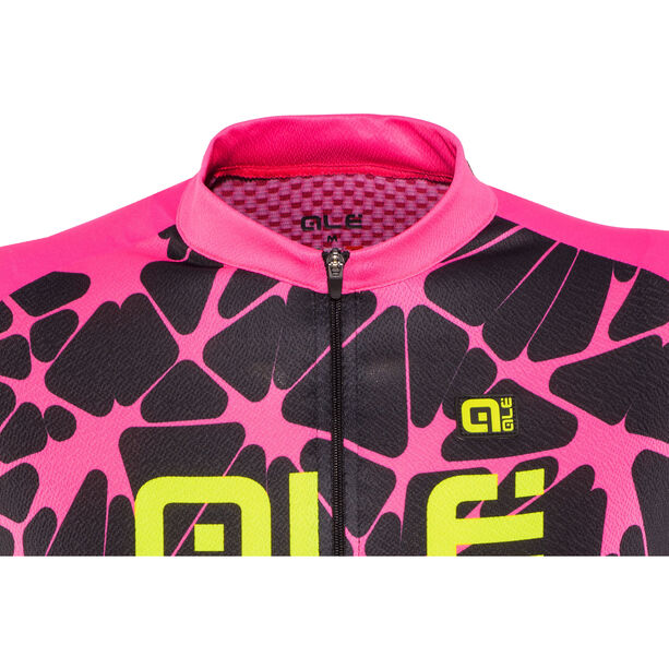 Alé Cycling Solid Cracle Shortsleeve Jersey Damen black-fluo pink