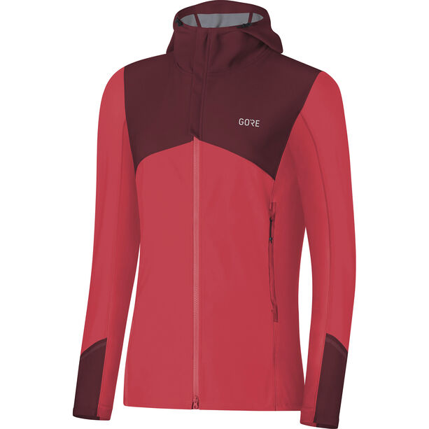 GORE WEAR R3 Windstopper Hooded Jacket Damen hibiscus pink/chestnut red