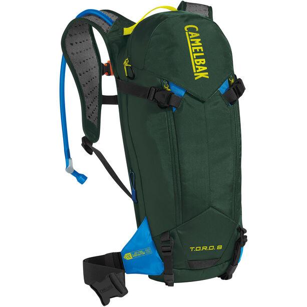 CamelBak T.O.R.O. Protector 8 Backpack dry deep forest/brilliant blue