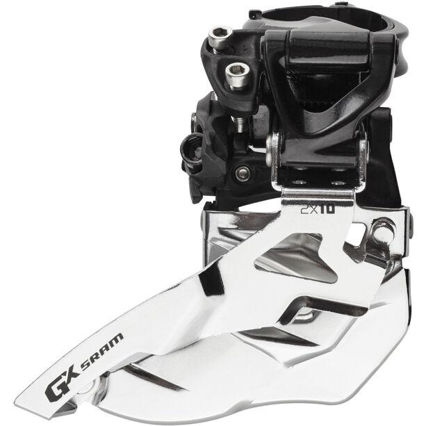 SRAM GX Umwerfer 2x10-fach HighClamp Top Pull schwarz/silber schwarz/silber