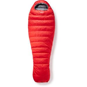 Rab Alpine Pro 600 Schlafsack XL Herren fiery red/steel fiery red/steel