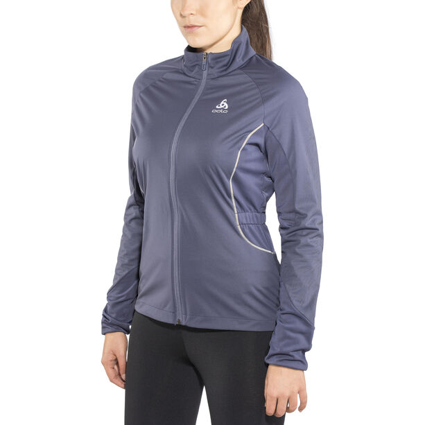 Odlo Zeroweight Windproof Reflect Warm Jacket Damen odyssey gray