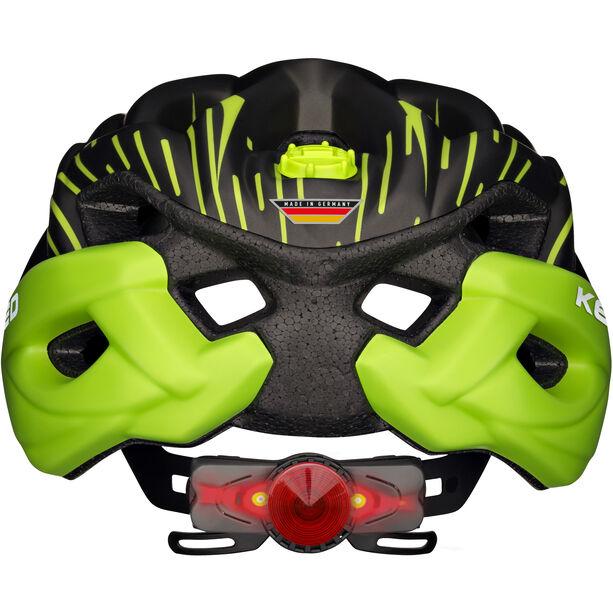 KED Status Jr. Helmet Kinder black green matt