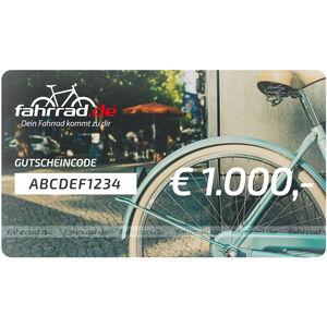 fahrrad.de Gift Voucher 1000 €