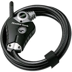 Masterlock Python Lock 8428 Kabelschloss 10 mm x 1.800 mm schwarz schwarz