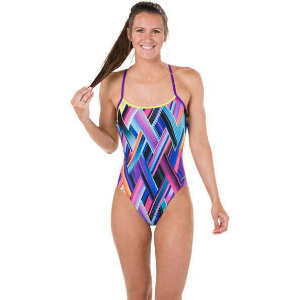 speedo Fizzbounce Single Crossback Swimsuit