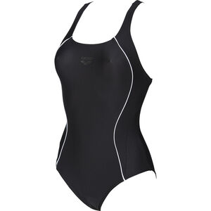 arena Flakes V Back One Piece Swimsuit Women black