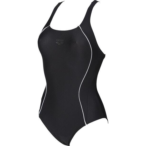 arena Flakes V Back One Piece Swimsuit Damen black