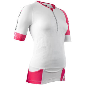 Compressport Triathlon Postural Aero Short Sleeve Top Women White