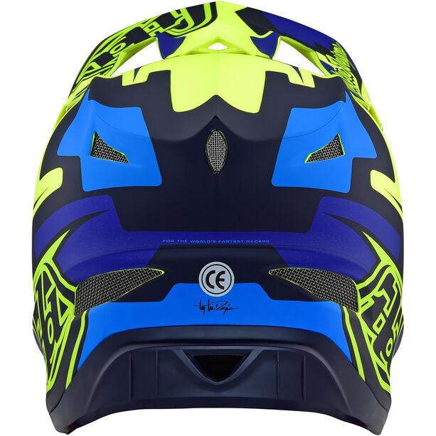 Troy Lee Designs D3 Fiberlite Speedcode Helmet yellow/blue